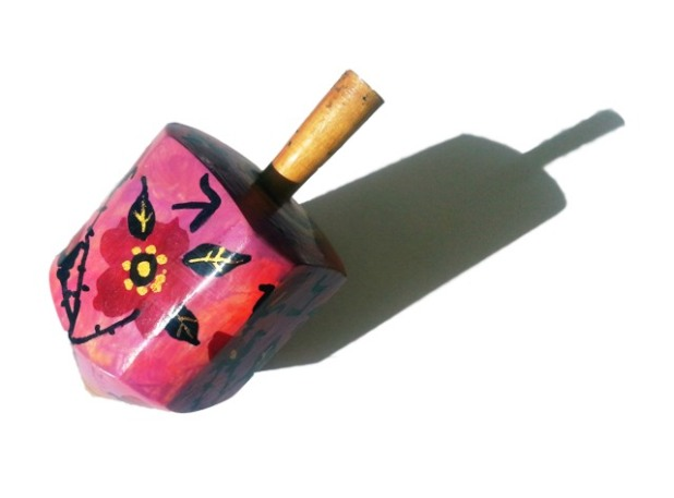 Wood Dreidel. Imma Marín's private collection.
